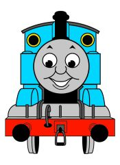 Thomas the tank clip art.