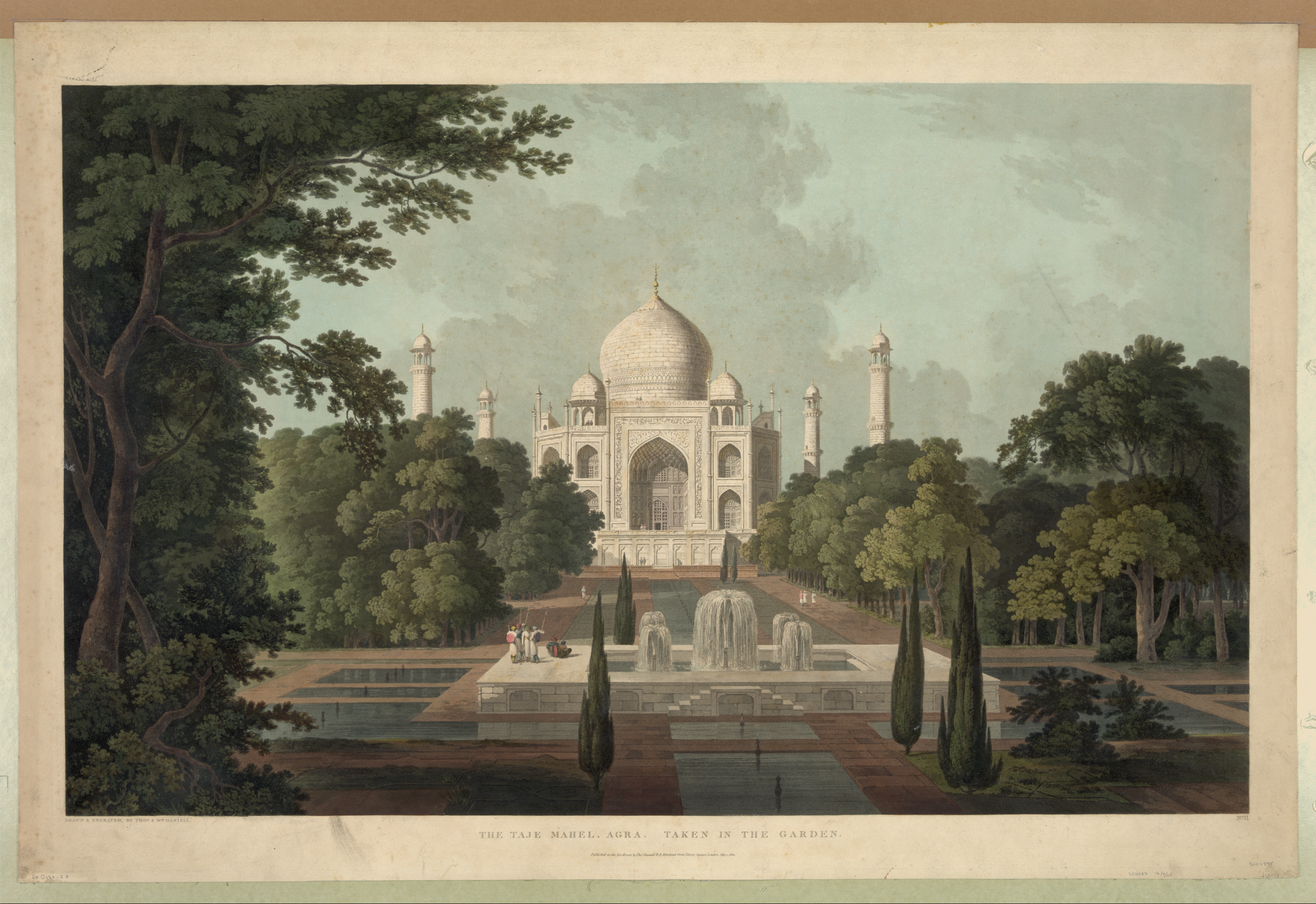 The Taje Mahel, Agra. No. I / Drawn & Engraved By Thomas And.