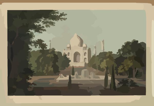 The Taje Mahel, Agra. No. I / Drawn & Engraved By Thomas And.