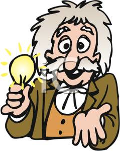 Art Image: Thomas Edison with a Light Bulb.