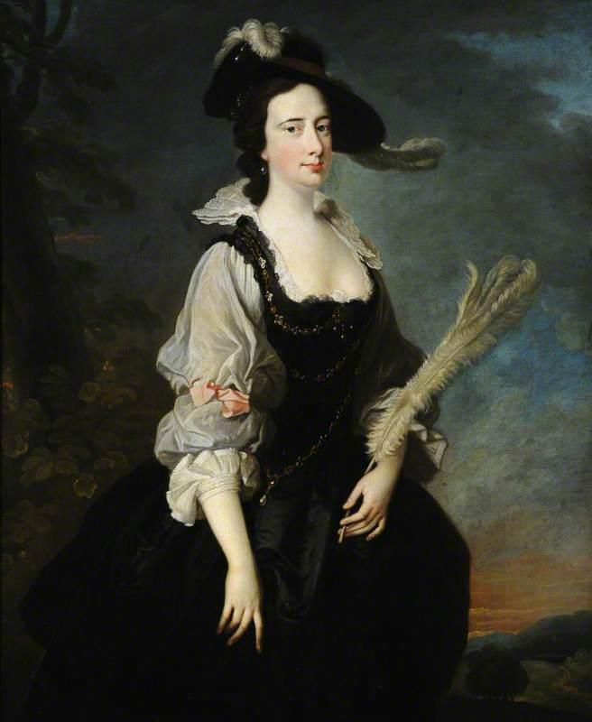 ca. 1757 Mary Panton, 3rd Duchess Ancaster by Thomas Hudson. Lady.