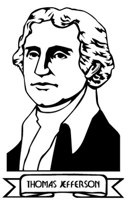 Download thomas jefferson black and white clipart Thomas.