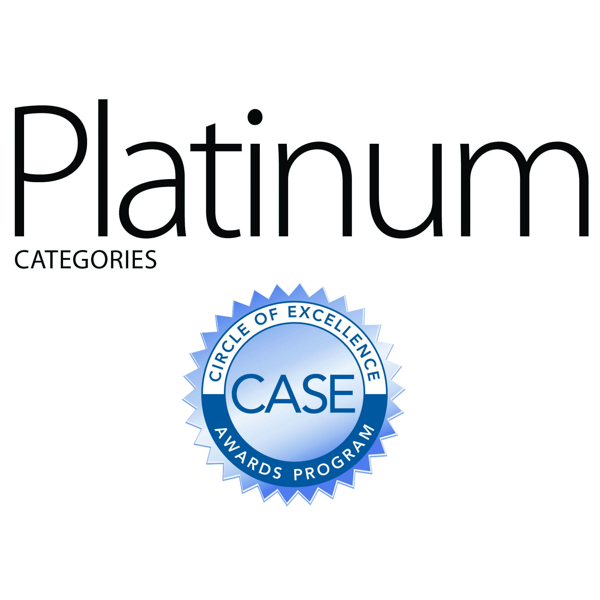 Congratulations to our Platinum Category gold award winners.