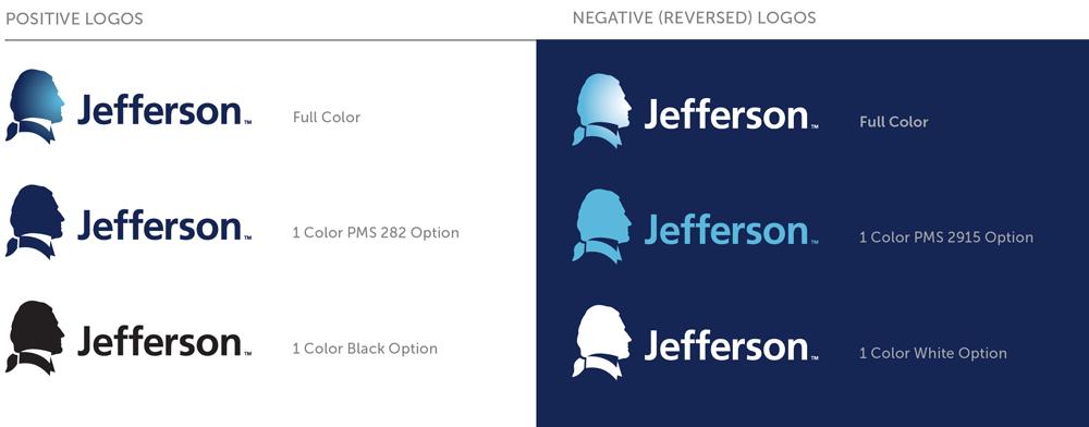 Brand New: New Logo and Identity for Jefferson University.