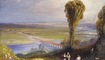 Jumièges by Thomas Moran.