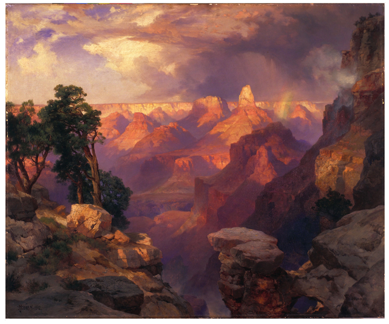 Thomas Moran, Grand Canyon with Rainbow, 1912.