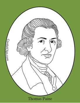Thomas Paine Clip Art, Coloring Page, or Mini.