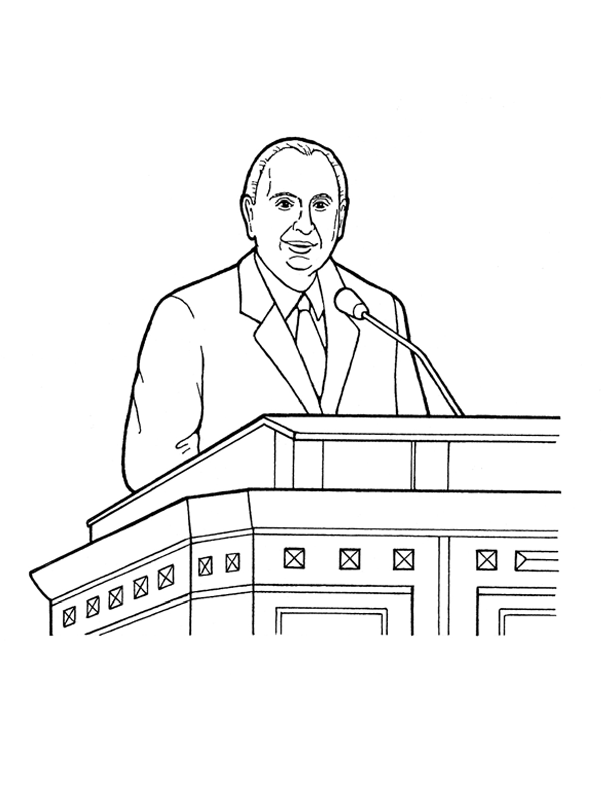 Thomas S. Monson Speaking at General Conference.