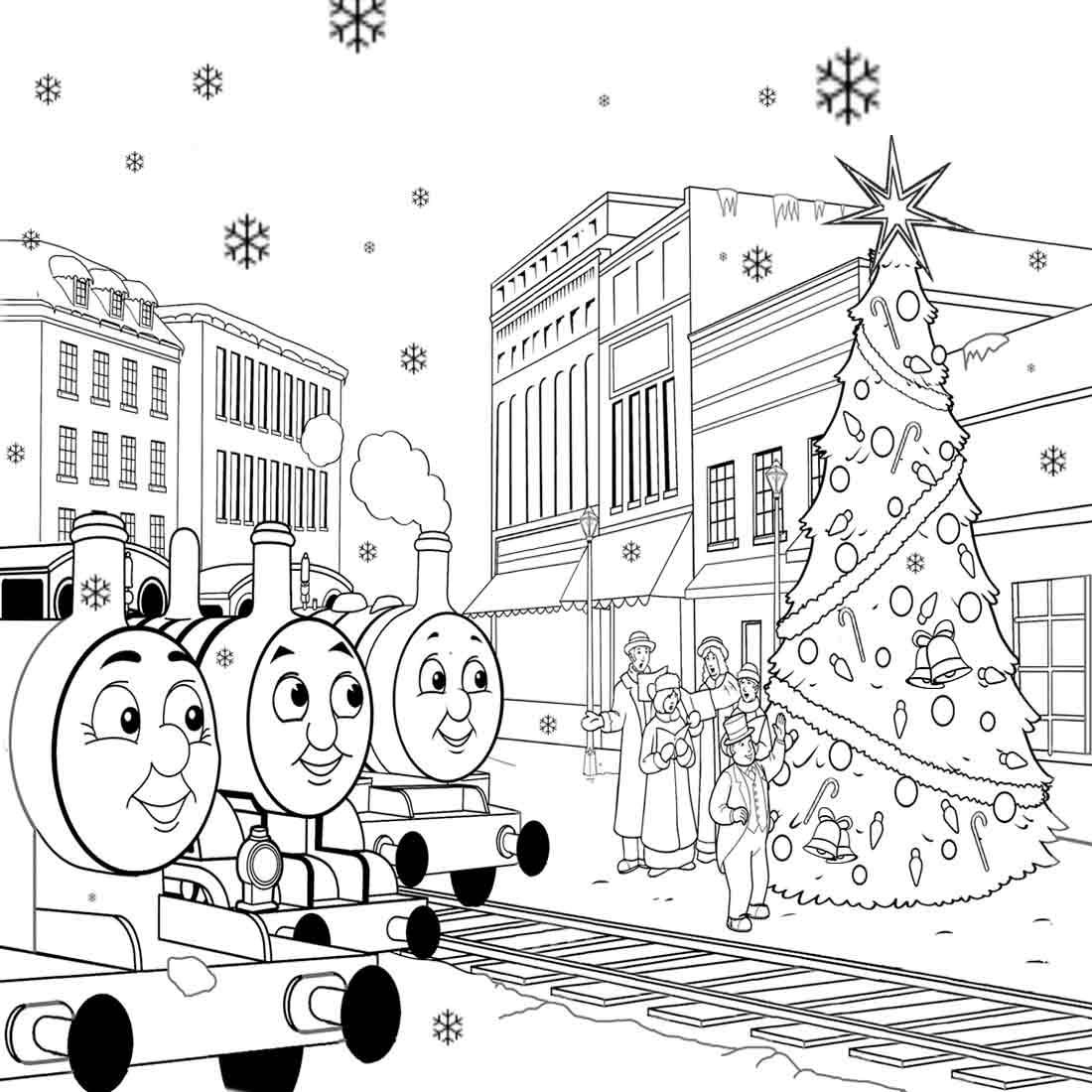 Free Christmas Train Coloring Pages Toy, Download Free Clip.