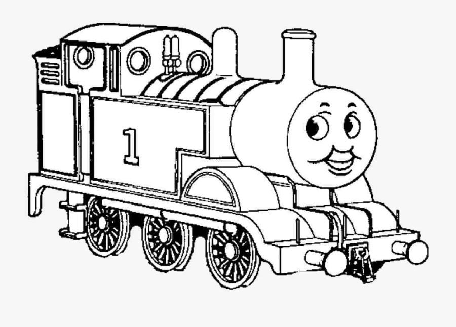 Thomas The Train Clipart Black And White Free Transparent.