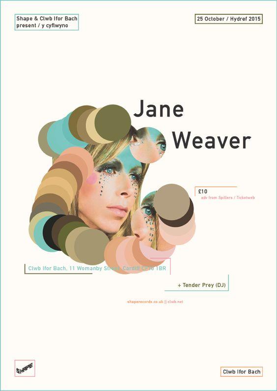 Jane Weaver poster by Emma Daman Thomas.