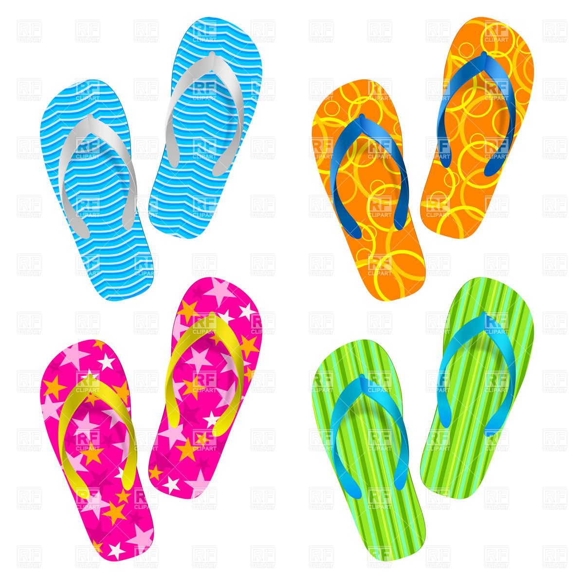 Thongs footwear clipart.