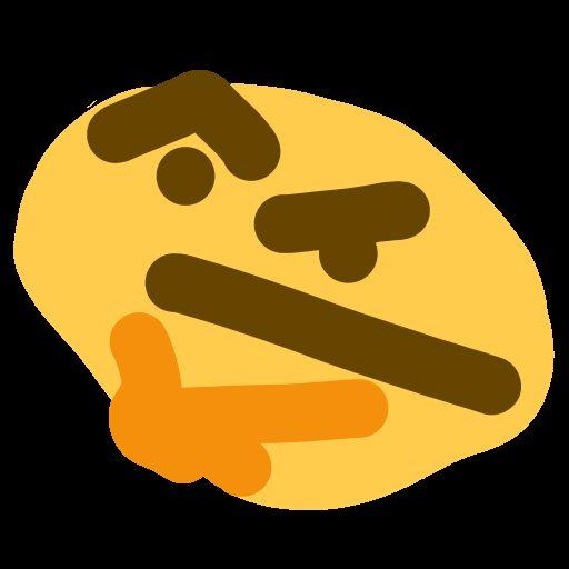 Thonk (goofy thinking emoji).