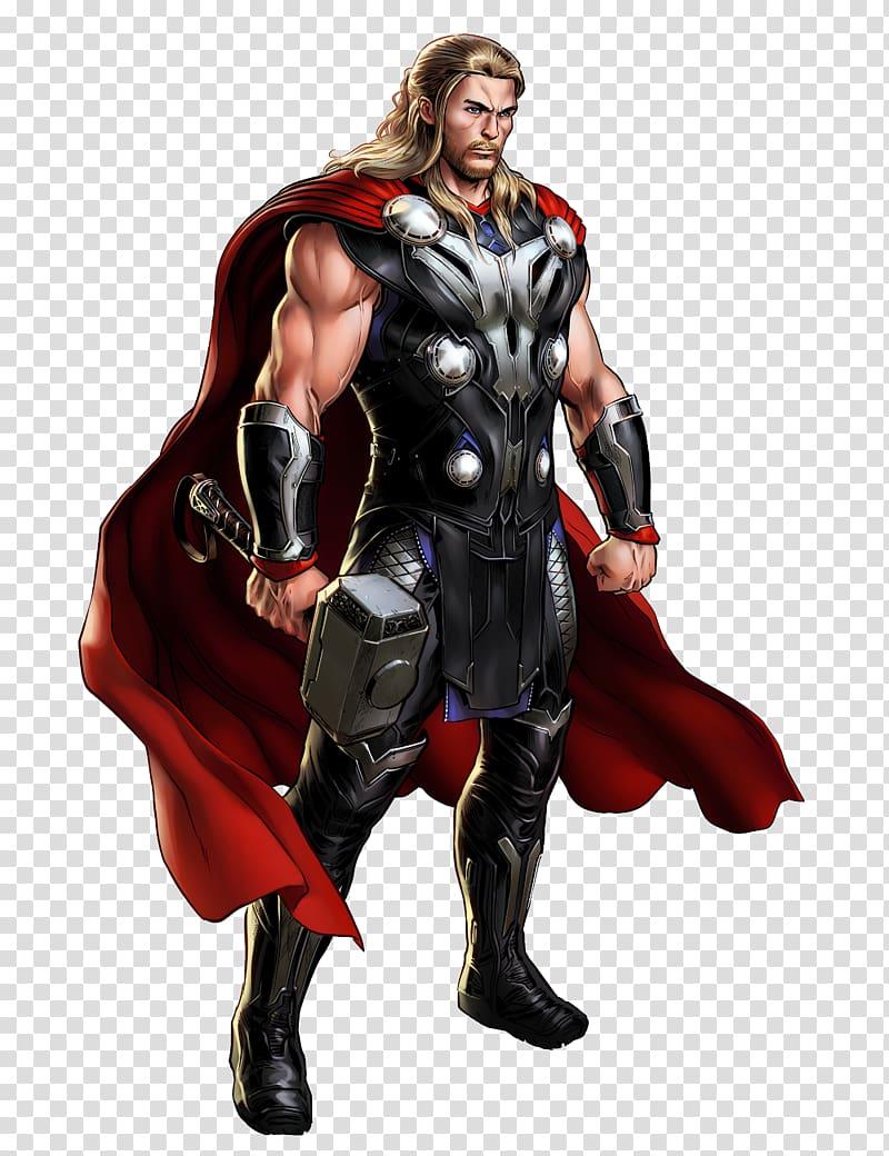 Marvel Thor illustration, Marvel: Avengers Alliance Marvel.
