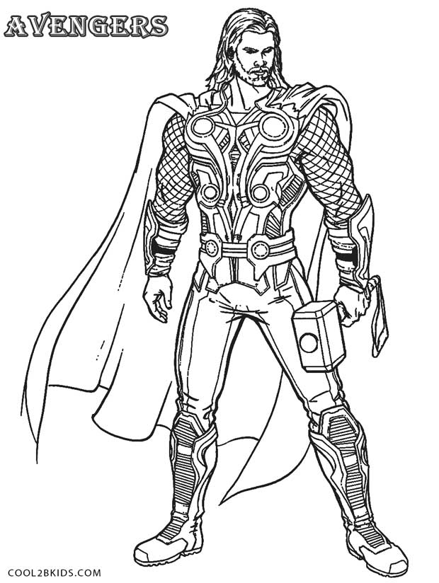Printable Thor Coloring Pages For Kids.
