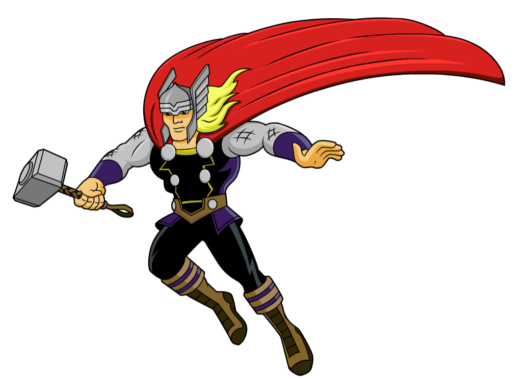 Thor clipart marvel pencil and in color thor png.