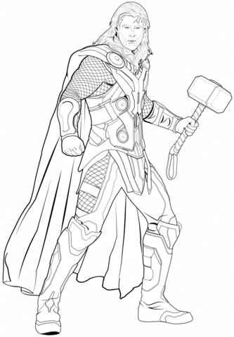Avengers Thor kifestő.