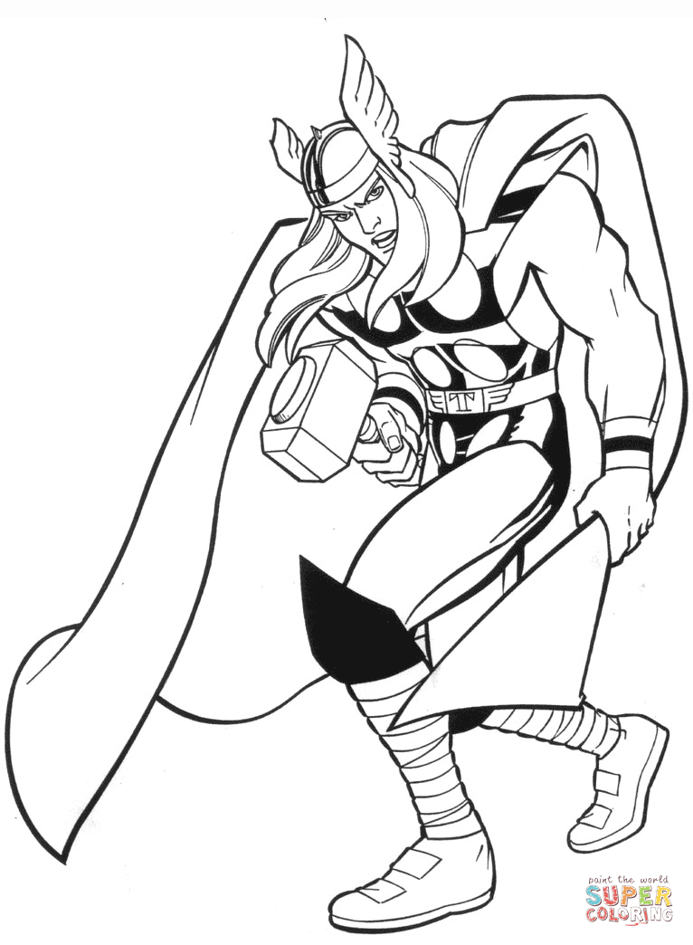 415 Thor free clipart.
