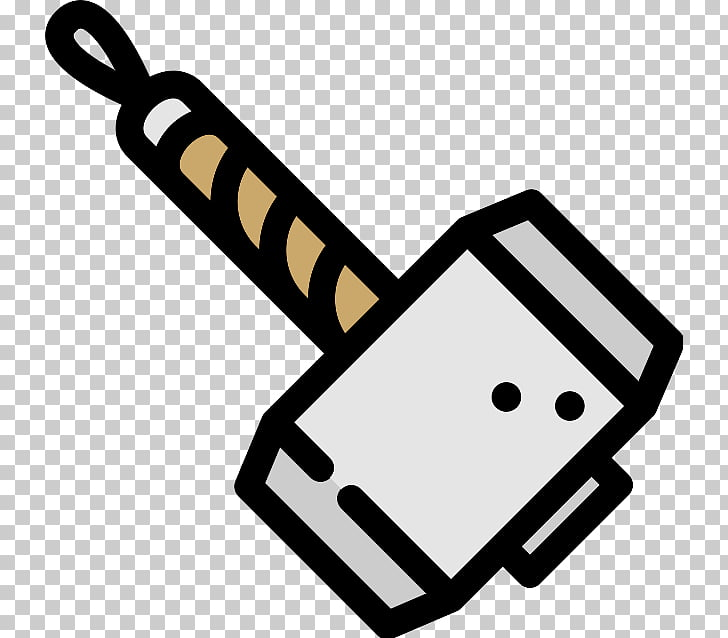 Thor Mjolnir Scalable Graphics Icon, ax PNG clipart.