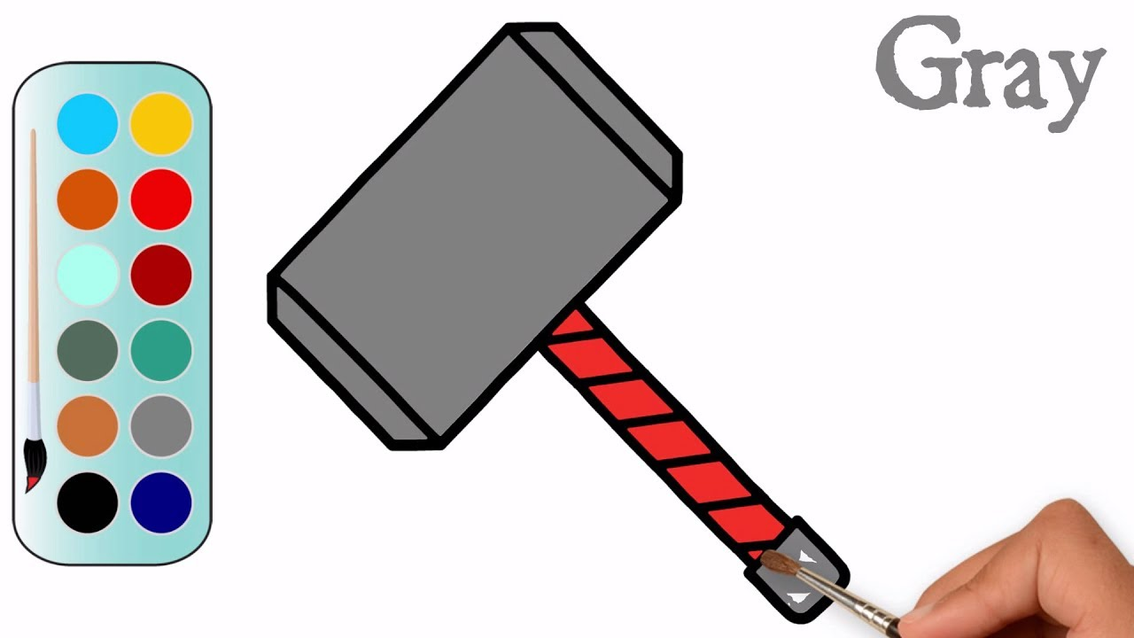 Collection of Thor hammer clipart.