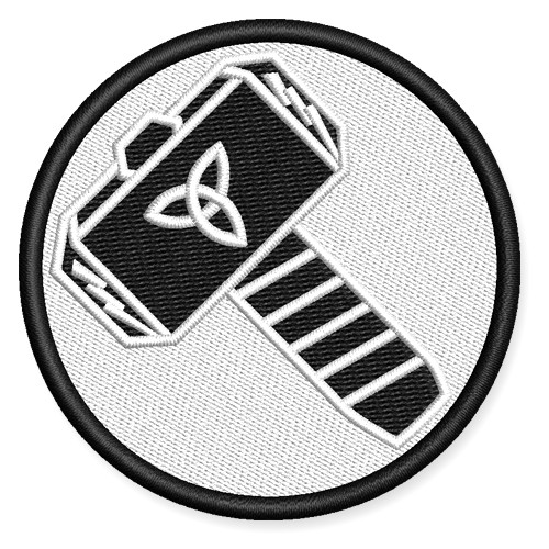 Patch Thor Hammer Emblem D=2.76inch.