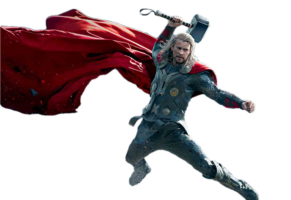Thor Transparent Action PNG Image Download.
