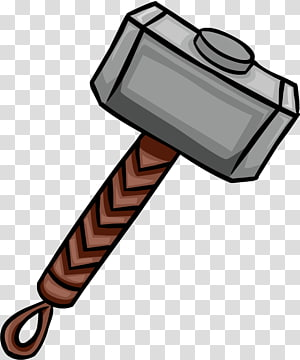 Thors Hammer transparent background PNG cliparts free.