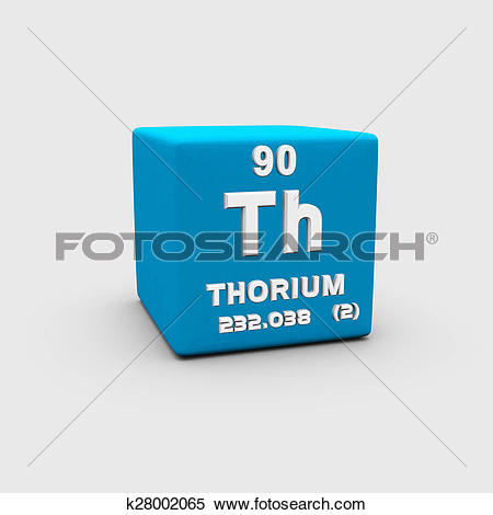 Stock Illustration of Atomic Number Thorium k28002065.