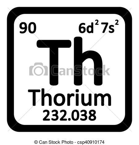 Vectors Illustration of Periodic table element thorium icon.