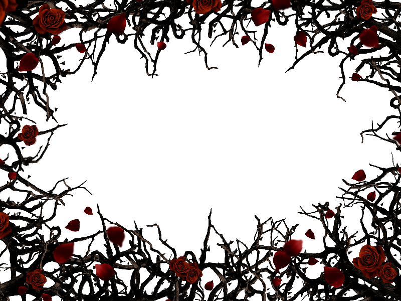 Roses And Thorns Border Frame Png Background Free (Nature.