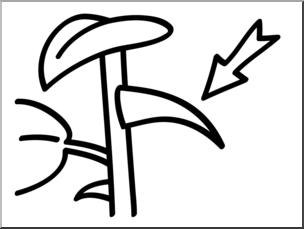 Clip Art: Basic Words: Thorn B&W Unlabeled I abcteach.com.