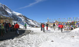Thorong La Pass Base Camp Nepal Stock Photos, Images, & Pictures.