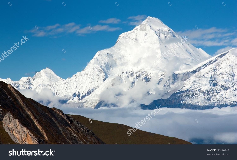 Dhaulagiri From Thorung La Pass Mustang.