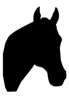 Thoroughbred horse head clipart.