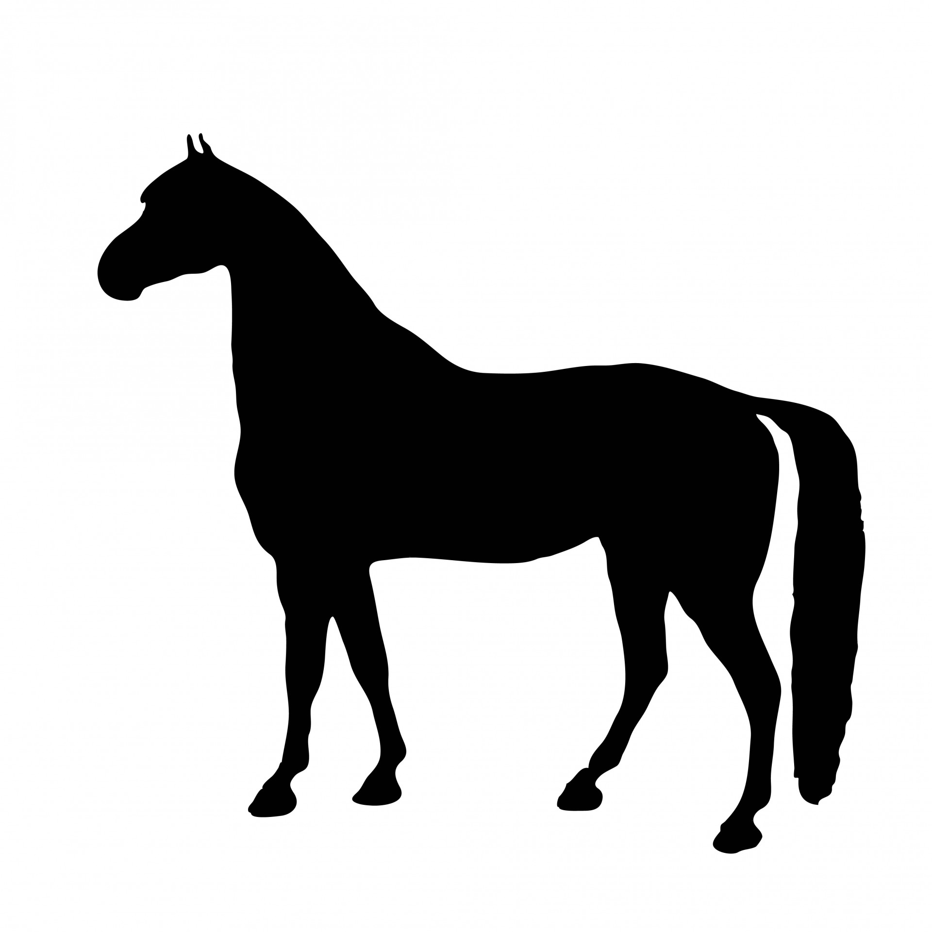 Horse Silhouette Clipart Free Stock Photo.