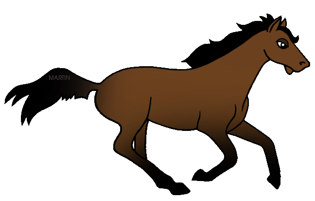 Free United States Clip Art by Phillip Martin, State Horse of.