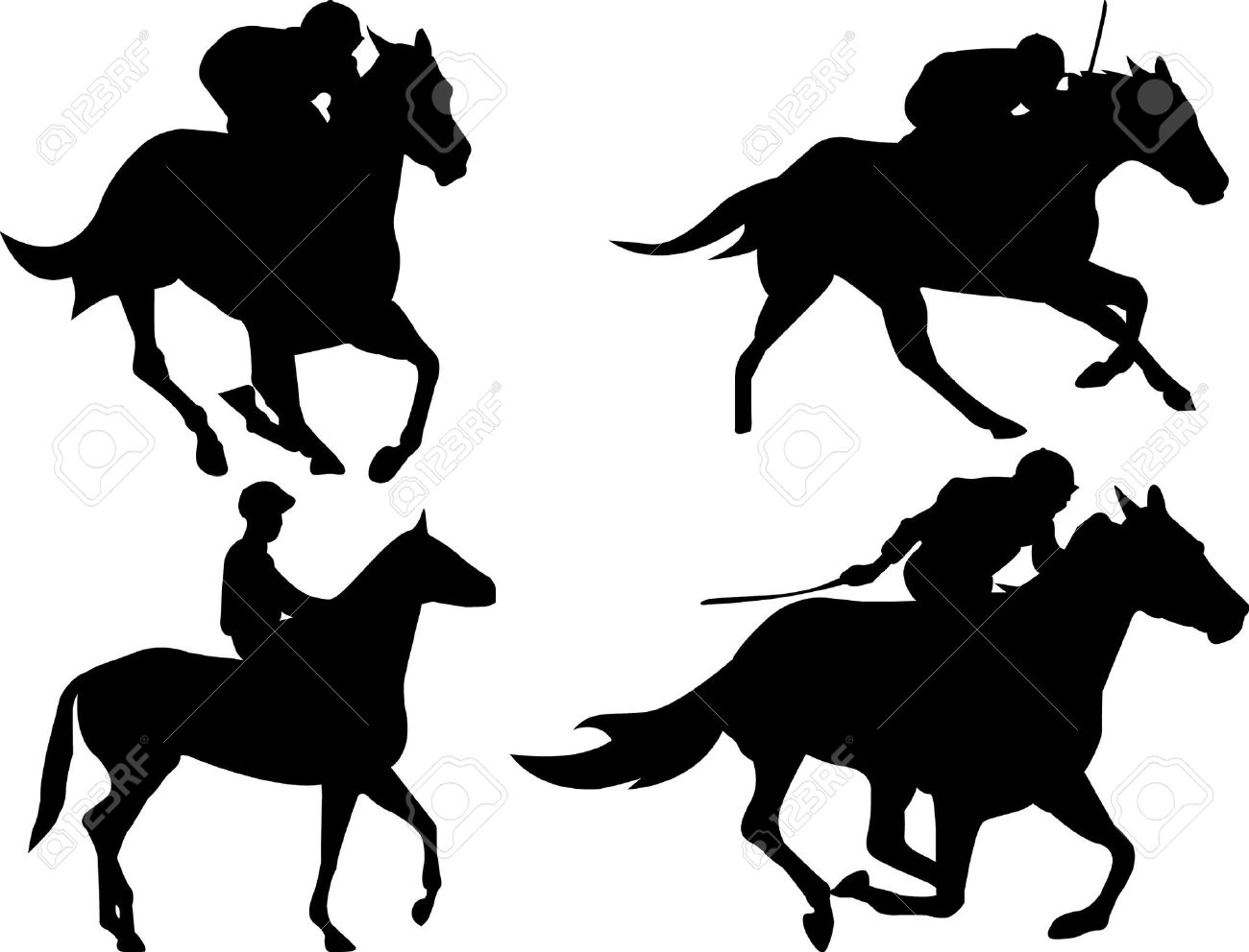Horse Racing Game Royalty Free Cliparts, Vectors, And Stock.
