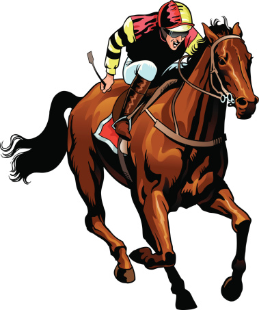Thoroughbred Race Horse Clip Art, Vector Images & Illustrations.