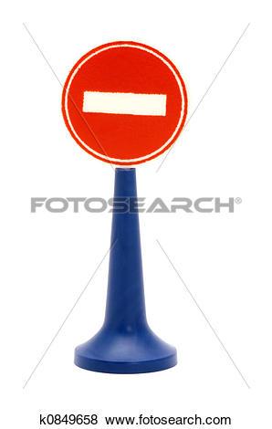 Stock Illustration of no thoroughfare k0849658.
