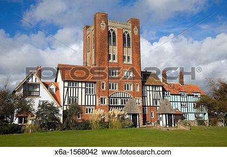 Stock Photo of Eccentric mock Tudor architecture of water tower.