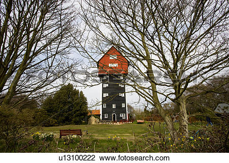 Stock Photo of England, Suffolk, Thorpeness. The House in the.