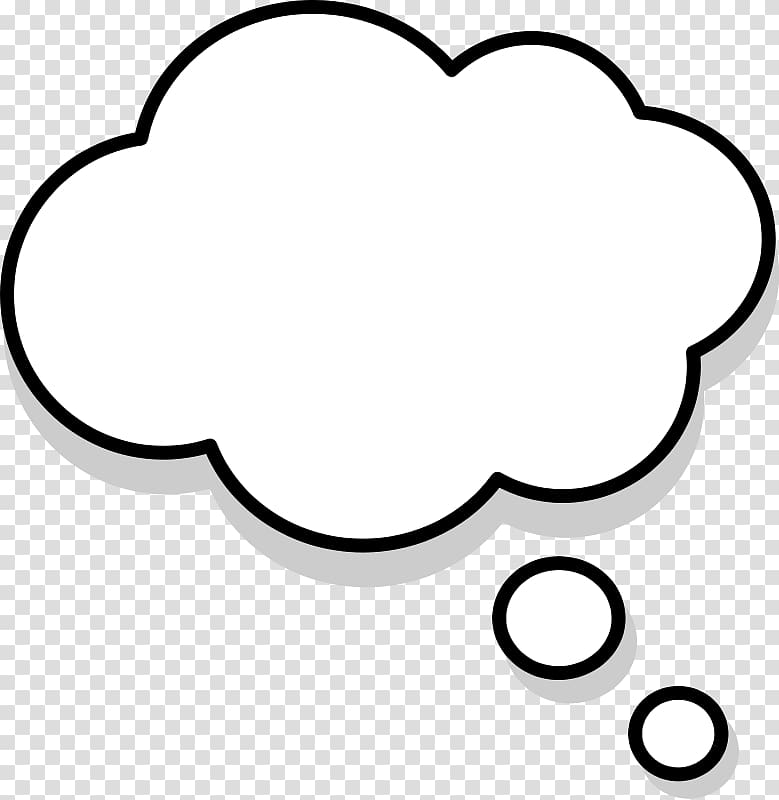 White and gray clouds , Thought , Free Speech Bubble.