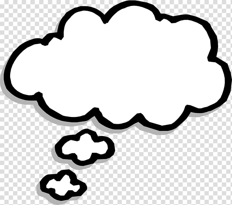 Speech balloon Thought Bubble , think transparent background.
