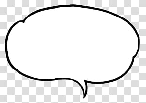 Manga Speech Bubbles , white chat head art transparent.