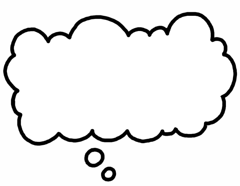 Thought Bubble PNG Image.