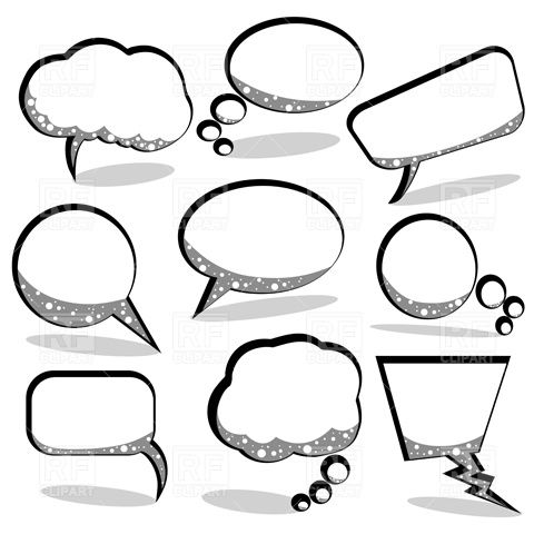Printable thought bubbles clipart 2.