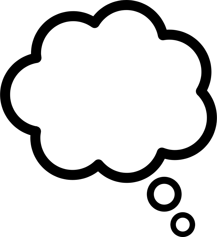 Free Clipart: Thought cloud.