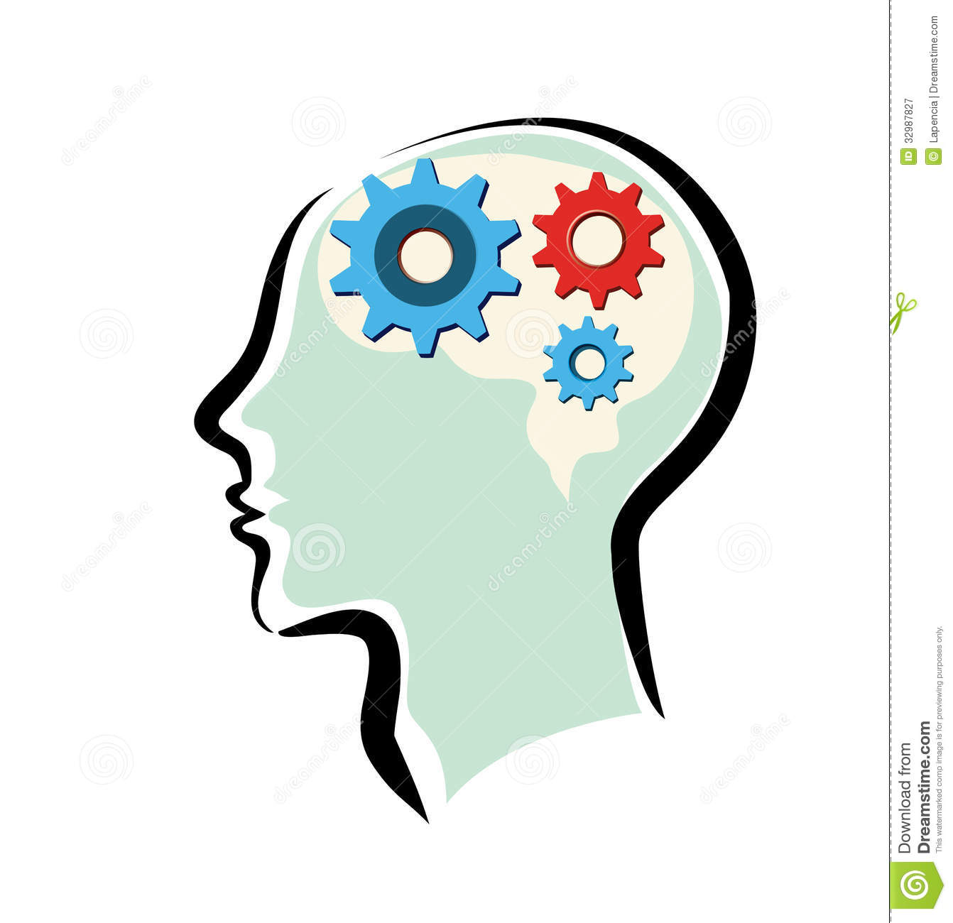 Animated thinking process clipart.