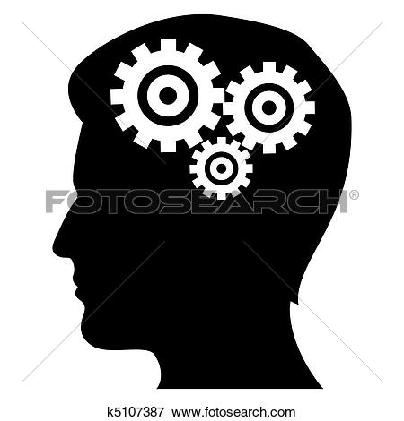 Clipart of Thinking process, vector image k11432831.
