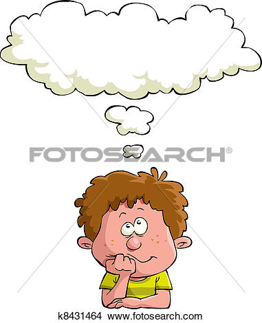 Clipart of Dreaming child k8431464.